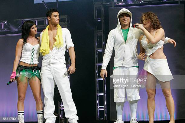 Lauren Gottlieb Danny Tidwell Dominic Sandoval and Jaimie Goodwin from the television show 'So You Think You Can Dance' performing live with the...