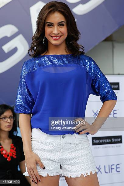 Lauren Gottlieb walks the runway in Shoppers Stop's Life collection fashion show held at Shoppers Stop on May 20 2015 in Mumbai India