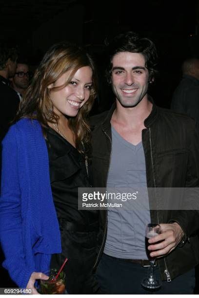 Lauren Gould and Zach Hyman attend Grand Opening of La Pomme at 37 W 26th St on September 17 2009 in New York City