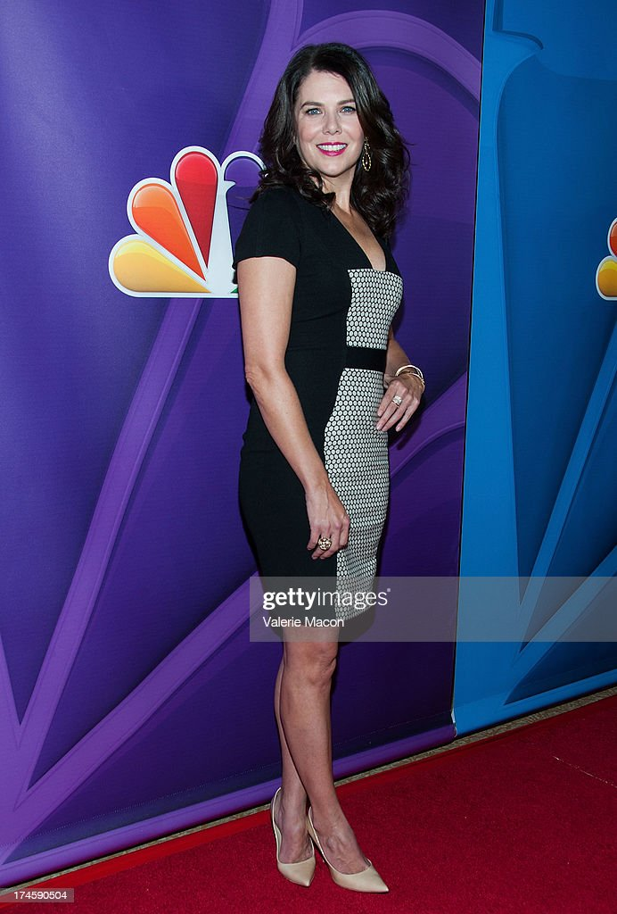 Lauren Graham arrives at the NBCUniversal's '2013 Summer TCA Tour' at The Beverly Hilton Hotel on July 27, 2013 in Beverly Hills, California.