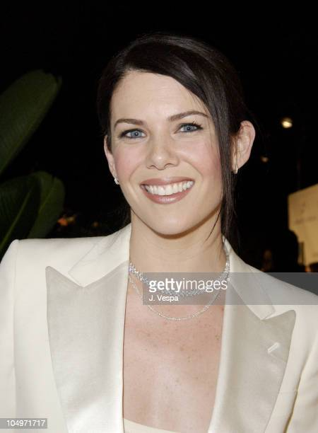 Lauren Graham during Women's Wear Daily The Ultimate Fashion Authority Hosted 'White Hot Diamonds' The Exclusive PreOscar Fashion Event Where...