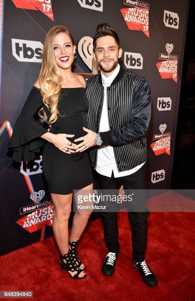 Lauren Gregory and singersongwriter Thomas Rhett attend the 2017 iHeartRadio Music Awards which broadcast live on Turner's TBS TNT and truTV at The...