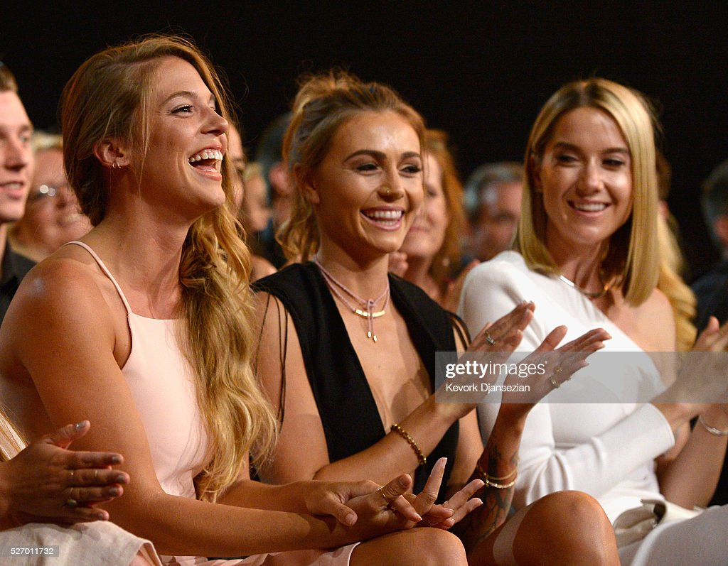 Lauren Gregory, Brittney Marie Cole and Hayley Stommel attend the 2016 American Country Countdown Awards at The Forum on May 1, 2016 in Inglewood, California.