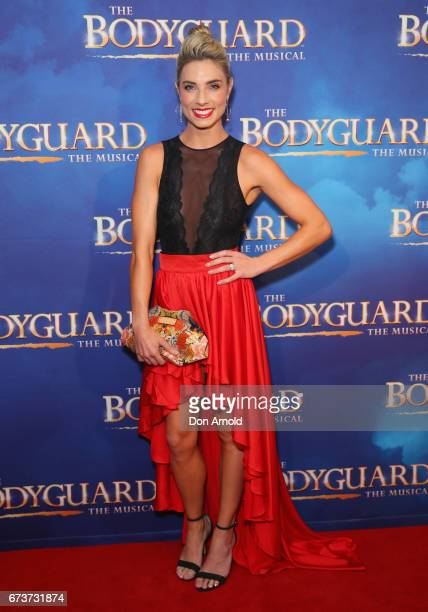 Lauren Hannaford arrives ahead of opening night of The Bodyguard The Musical at Lyric Theatre Star City on April 27 2017 in Sydney Australia