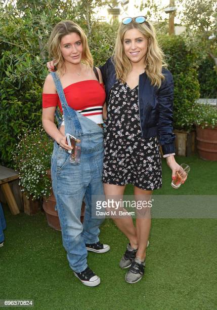 Lauren Hatton and Olivia Cox attend Microsoft's Surface Garden Sessions at The Gardening Society on June 15 2017 in London England