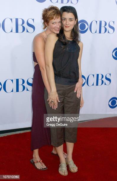 Lauren Holly and Cote de Pablo during CBS Summer 2006 TCA Press Tour Party Arrivals at Rose Bowl in Pasadena California United States