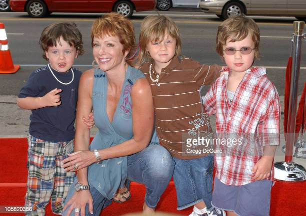 Lauren Holly and Kids during 'Barnyard' World Premiere Arrivals at Cinerama Dome in Hollywood California United States