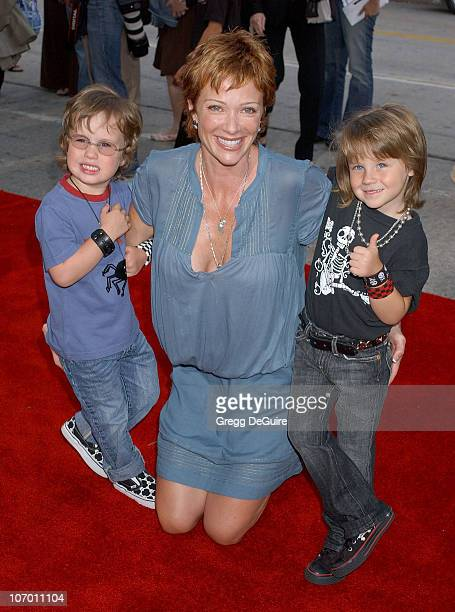 Lauren Holly and Kids during 'Monster House' Los Angeles Premiere Arrivals at Mann Village Theatre in Westwood California United States