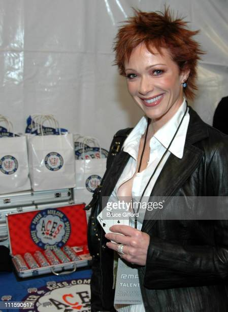 Lauren Holly during 2005 Radio Music Awards Backstage Acescom Raises Money for Make a Wish Foundation at Aladdin Hotel in Las Vegas Nevada United...
