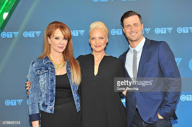 Lauren Holly Kristin Lehman and Brendan Penny attend CTV Upfront 2015 Presentation at Sony Centre For Performing Arts on June 4 2015 in Toronto Canada