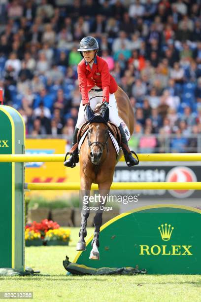 Lauren HOUGH riding OHLALA during the Rolex Grand Prix part of the Rolex Grand Slam of Show Jumping of the World Equestrian Festival on July 23 2017...