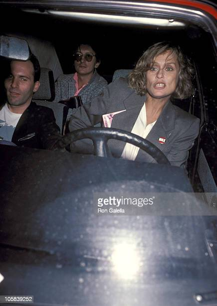 Lauren Hutton and guests during Lauren Hutton Sighting in New York City December 1 1984 in New York City New York United States