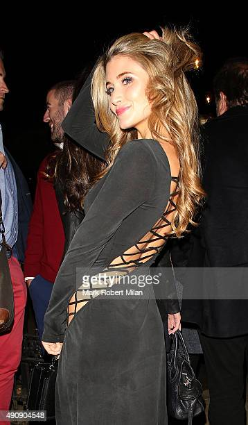 Lauren Hutton at the Raffles night club 50th birthday party on October 1 2015 in London England
