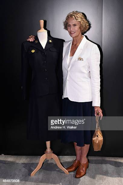 Lauren Hutton attends the Salute The Runway fashion show sponsored by Little Black Dress Wines Fatigues To Fabulous during MercedesBenz Fashion Week...