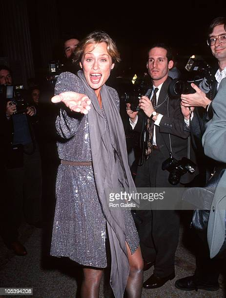 Lauren Hutton during 1991 CFDA Awards at Metropolitan Museum of Art in New York City New York United States