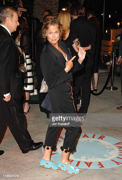 Lauren Hutton during 2006 Vanity Fair Oscar Party at Morton's in West Hollywood California United States
