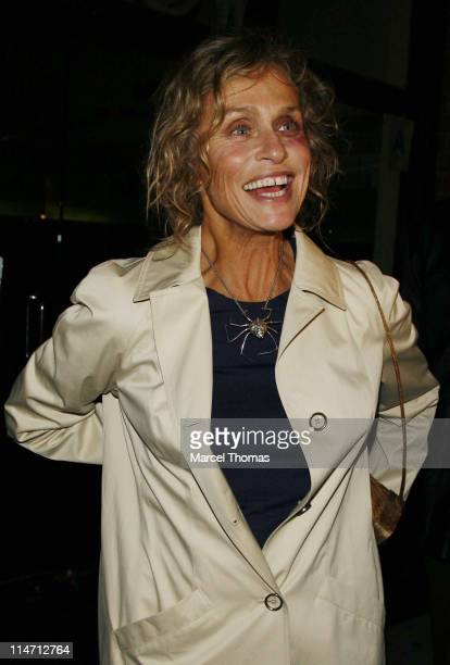Lauren Hutton during Celebrity Sightings Outside the Gagosian Gallery Party at Mr Chow Restaurant February 22 2007 at Mr Chow Restaurant in Beverly...