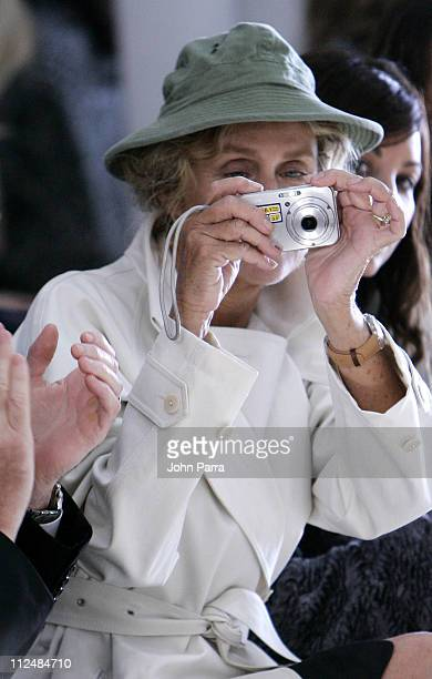 Lauren Hutton during Olympus Fashion Week Spring 2007 Calvin Klein Front Row and Backstage at 205 W 39th Street in New York City New York United...