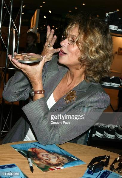 Lauren Hutton promoting her 'Good Stuff' cosmetic line and Rem Eyewear line