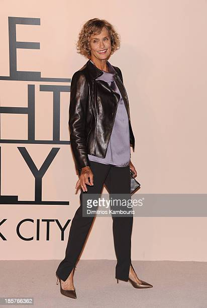 Lauren Hutton wearing Armani attends Giorgio Armani One Night Only NYC at SuperPier on October 24 2013 in New York City