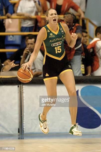 Lauren Jackson of Australia during a game between Brazil and Australia during the 2006 FIBA World Championship For Women at Constancio Vaz Guimaraes...