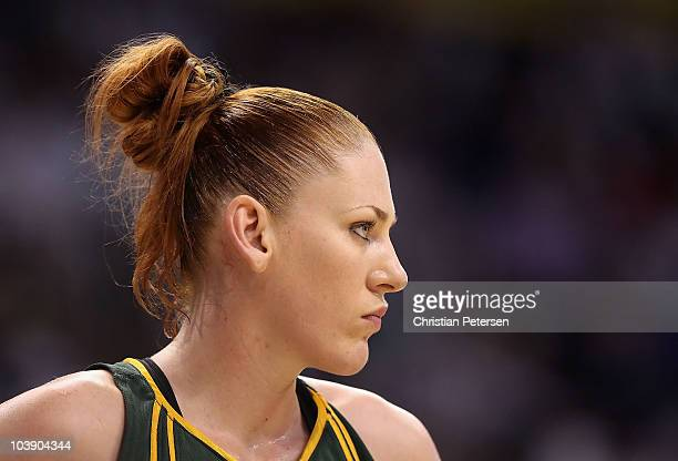 Lauren Jackson of the Seattle Storm in Game Two of the Western Conference Finals against the Phoenix Mercury during the 2010 WNBA Playoffs at US...