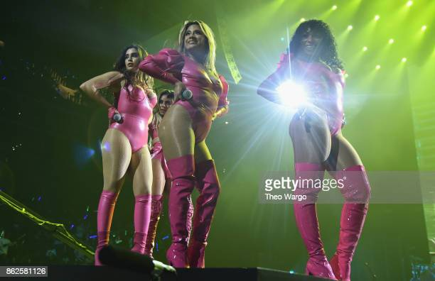 Lauren Jauregui Ally Brooke and Normani Kordei of Fifth Harmony perform onstage during TIDAL X Brooklyn at Barclays Center of Brooklyn on October 17...