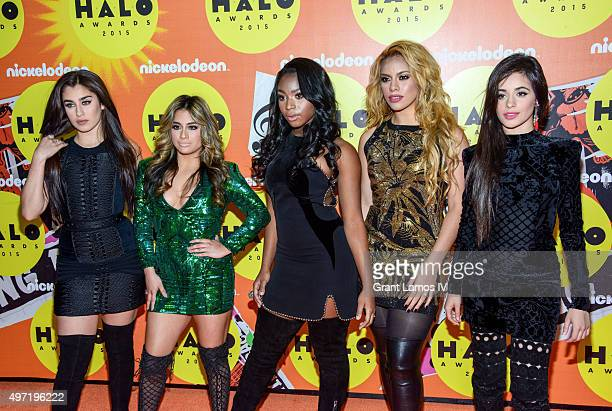 Lauren Jauregui Ally Brooke Normani Hamilton Dinah Jane Hansen and Camila Cabello of Fifth Harmony attend the 2015 Halo Awards at Pier 36 on November...
