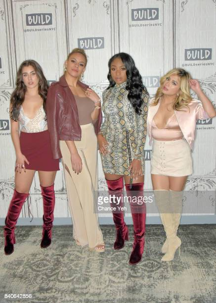 Lauren Jauregui Dinah Jane Normani Kordei and Ally Brooke of Fifth Harmony attend Build series at Build Studio on August 29 2017 in New York City