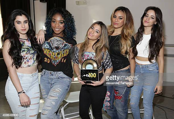 Lauren Jauregui Normani Hamilton Ally Brooke Dinah Jane Hansen and Camila Cabello of the musical group 5th Harmony film Music Choice's Take Back Your...