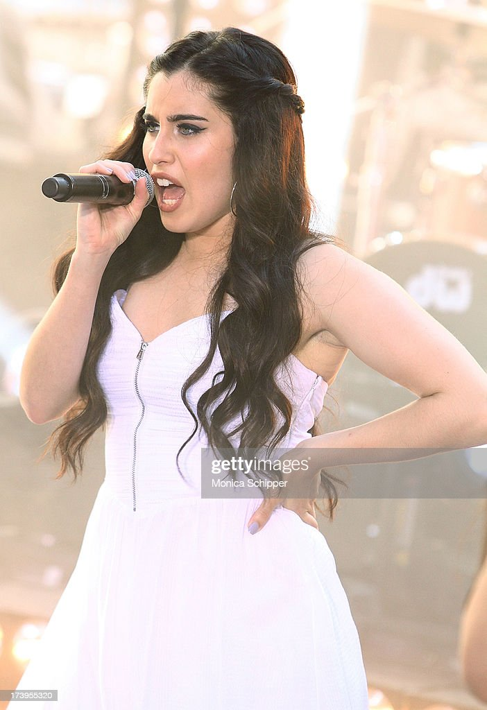 Lauren Jauregui of Fifth Harmony performs at NBC's TODAY Show on July 18, 2013 in New York City.