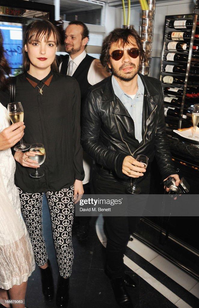 Lauren Jones and Olivier Khan attend Joe's x Purple Magazine dinner at Le Caprice on May 13, 2013 in London, United Kingdom.
