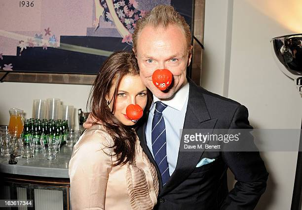 Lauren Kemp and Gary Kemp attend a gala performance of 'The Book Of Mormon' in aid of Red Nose Day at the Prince Of Wales Theatre on March 13 2013 in...