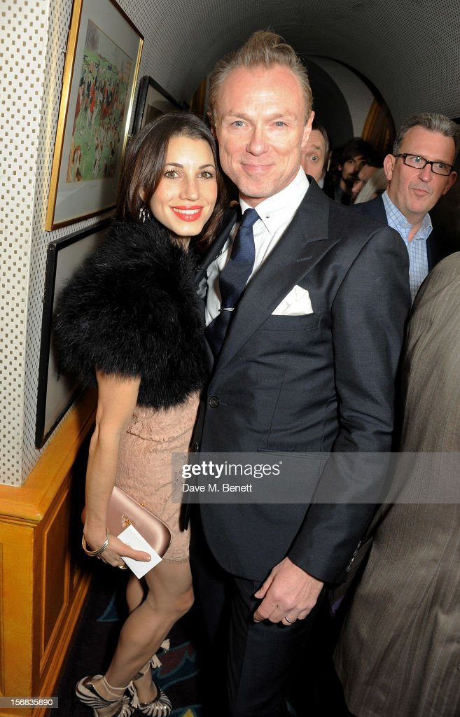 Lauren Kemp (L) and <a gi-track='captionPersonalityLinkClicked' href=/galleries/search?phrase=Gary+Kemp&family=editorial&specificpeople=213076 ng-click='$event.stopPropagation()'>Gary Kemp</a> attend a launch hosted by The Vinyl Factory of Bryan Ferry's new album 'The Jazz Age' at Annabelson November 22, 2012 in London, England.