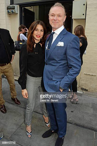 Lauren Kemp and Gary Kemp attend a private view of new exhibition 'David Bowie Fame Fashion Photography' at The Hub on June 6 2016 in London England