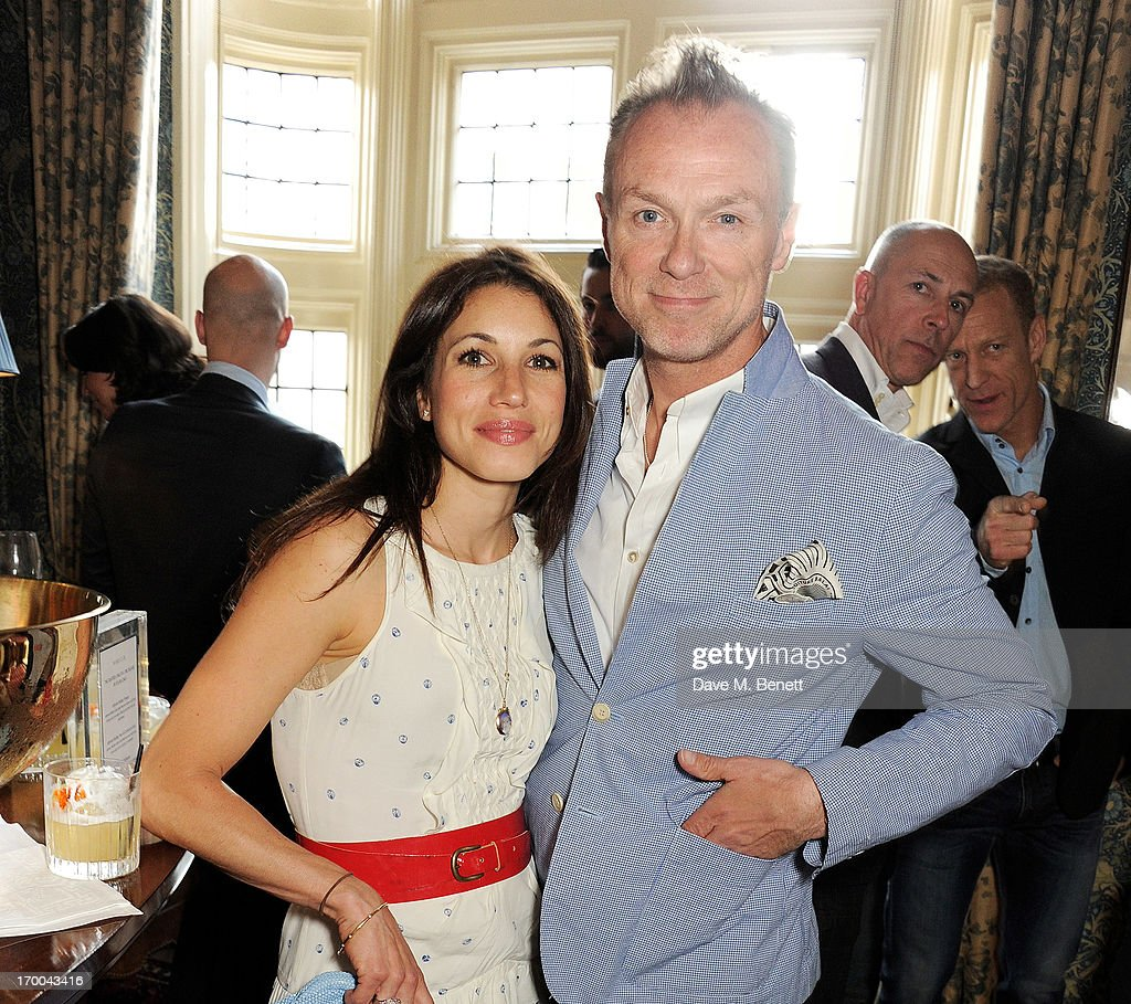 Lauren Kemp (L) and Gary Kemp attend the launch of 'The Eighties: One Day, One Decade' by GQ editor Dylan Jones at Mark's Club on June 6, 2013 in London, England.