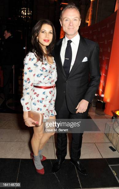 Lauren Kemp and Gary Kemp attend the private view for the 'David Bowie Is' exhibition in partnership with Gucci and Sennheiser at the Victoria and...