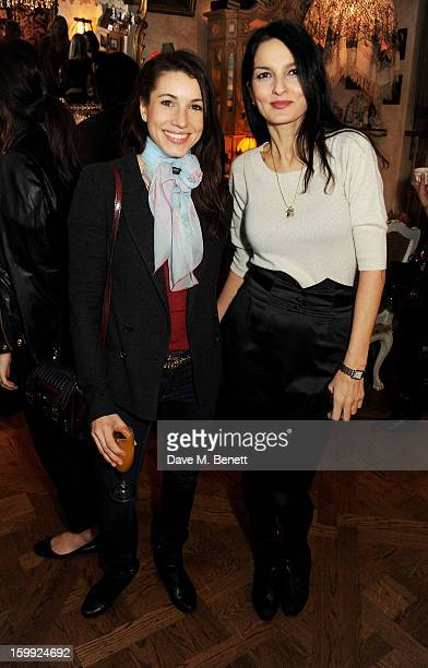 Lauren Kemp and Yasmin Mills attend afternoon tea hosted by Savannah Miller to celebrate the launch of the Savannah Spring/Summer 2013 collection at...