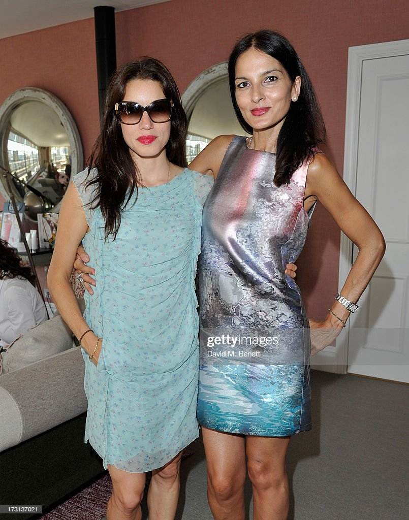 Lauren Kemp and Yasmin Mills attend Mary Katrantzou for Rodial candle launch party at Soho Hotel on July 8, 2013 in London, England.
