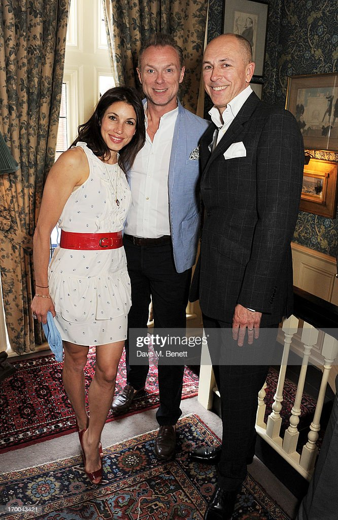 Lauren Kemp, Gary Kemp and Dylan Jones attend the launch of 'The Eighties: One Day, One Decade' by GQ editor Dylan Jones at Mark's Club on June 6, 2013 in London, England.