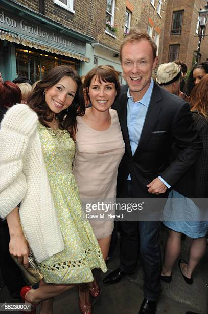 Lauren Kemp Sadie Frost and Gary Kemp attend the Frost French summer drinks party in Camden Passage Islington on June 4 2009 in London England