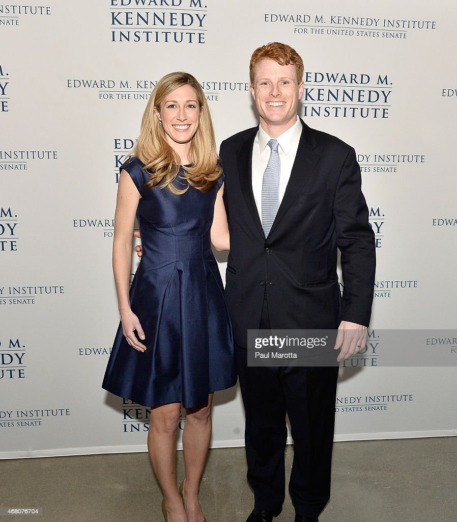 Lauren Kenedy and Rep Joe Kennedy III attend the Edward M. Kennedy Institute for the U.S. Senate Opening Night Gala and Dedication on March 29, 2015 in Boston, Massachusetts.