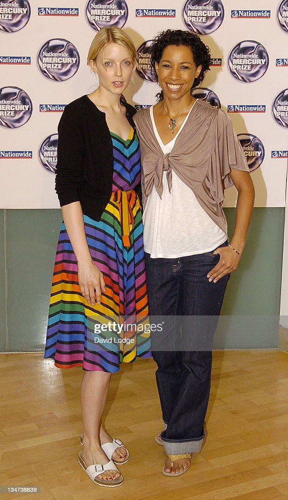 Lauren Laverne and Margarita Taylor during Nationwide Mercury Prize Shortlist Launch July 19 2005 at The Commonwealth Club in London Great Britain
