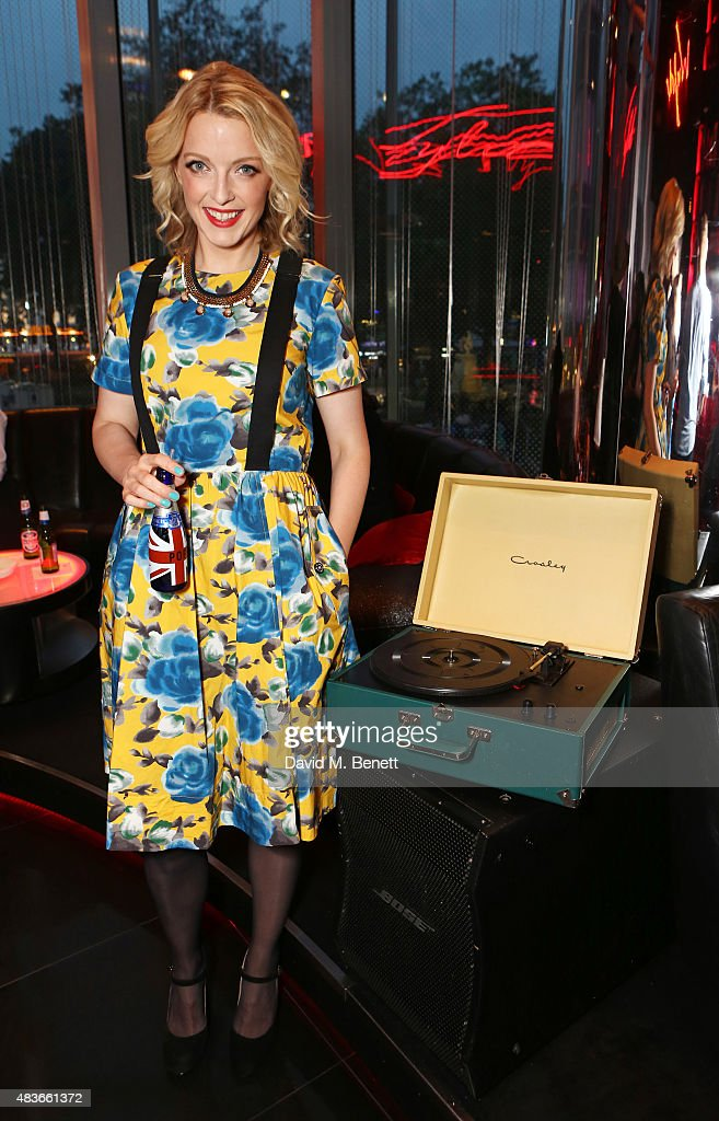 Lauren Laverne attends the launch of W London Leicester Square's Britpop Vinyl Collection curated by DJ Lauren Laverne at W London Leicester Square...