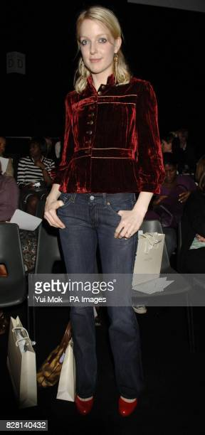 Lauren Laverne during designer Ronit Zilkha's London Fashion Week spring/summer 2006 show at the BFC Tent Natural History Museum central London...