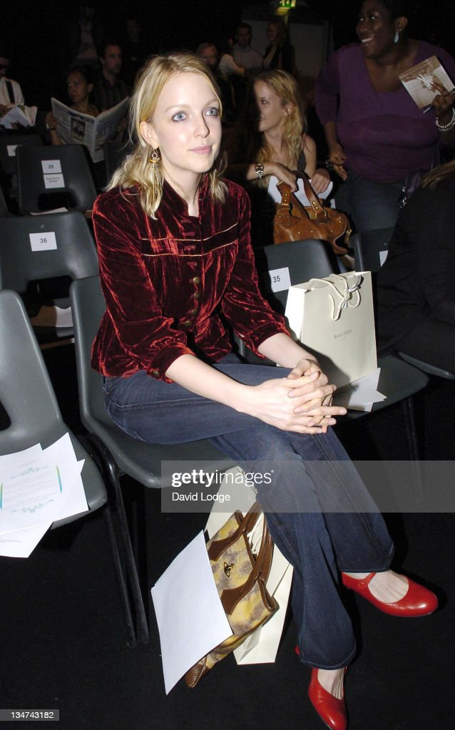 Lauren Laverne during London Fashion Week Spring/Summer 2006 Ronit Zilka Runway and Front Row at BFC Tent Natural History Museum in London Great...
