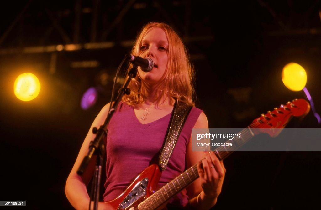 Lauren Laverne of Kenickie performs on stage United Kingdom 1997