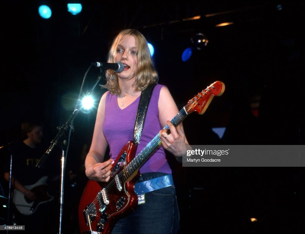 Lauren Laverne performs on stage on a solo tour United Kingdom 1999