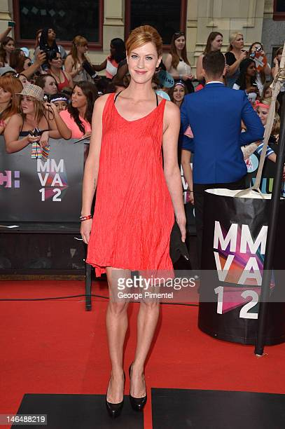 Lauren Lee Smith arrives at the 2012 MuchMusic Video Awards at MuchMusic HQ on June 17 2012 in Toronto Canada