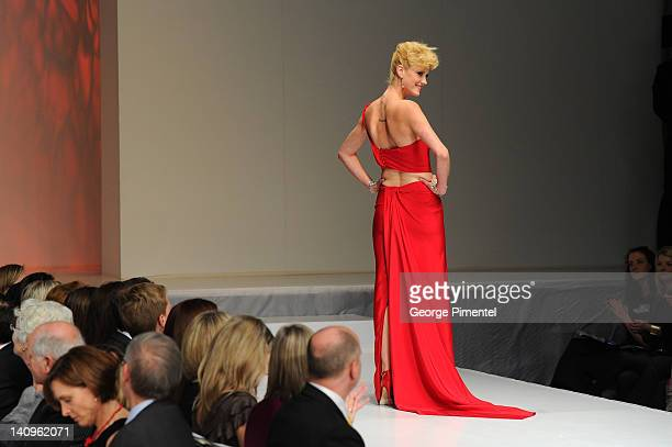 Lauren Lee Smith walks the runway during the Heart Truth fashion show at The Carlu on March 8 2012 in Toronto Canada
